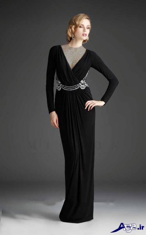 مدل لباس مجلسی مشکی لمه