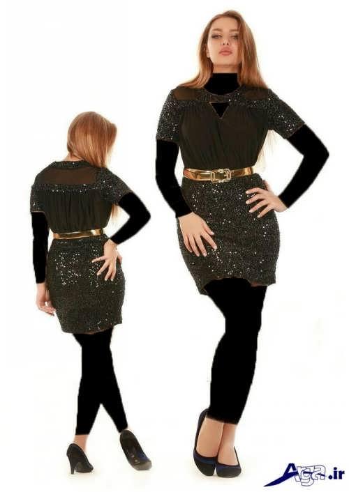 مدل لباس مجلسی لمه با طرح کوتاه