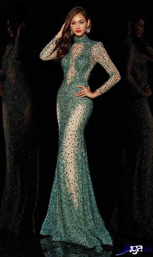 مدل پیراهن بلند با پارچه لمه مدل لباس مجلسی لمه در طرح های شیک و جذاب