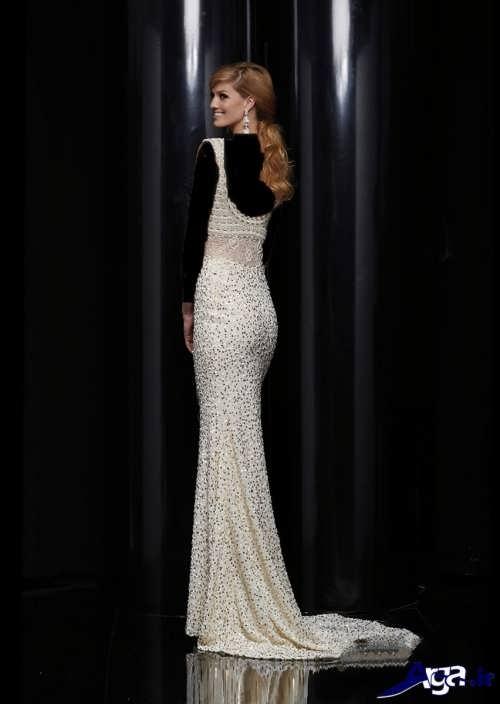 مدل لباس مجلسی بلند لمه