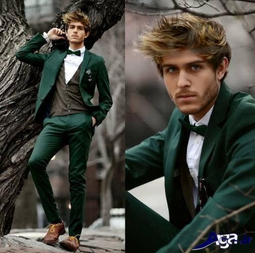 مدل کت و شلوار پسرانه سبز