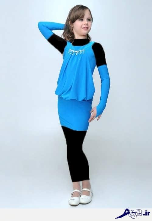 مدل لباس مجلسی نوجوان آبی