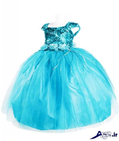 مدل لباس پرنسسی آبی