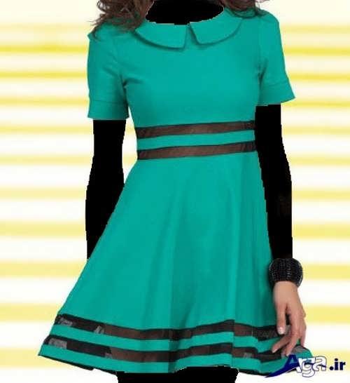 مدل لباس مجلسی سبز دخترانه نوجوان