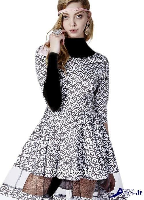 مدل لباس مجلسی کار شده با تور