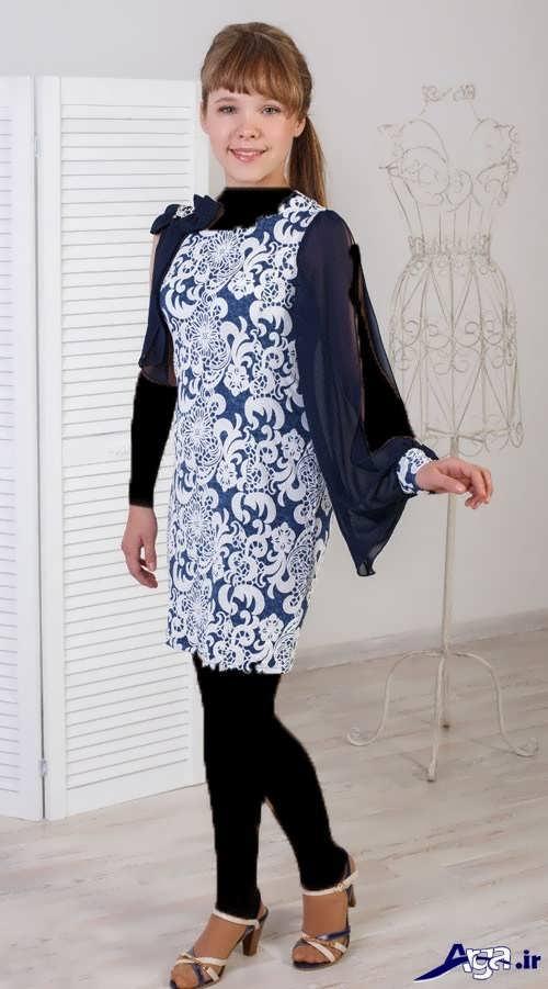 مدل لباس مجلسی گلدار نوجوان