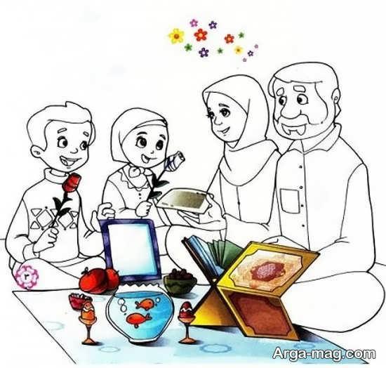 نقاشیهای عید نوروز با رنگ آمیزی جدید