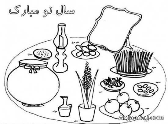 نقاشیهای دوست داشتنی برای عید نوروز