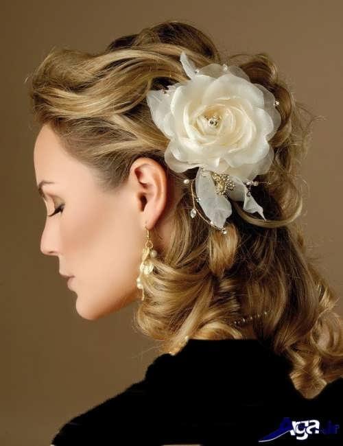 مدل آرایش موی شیک و جذاب عروس