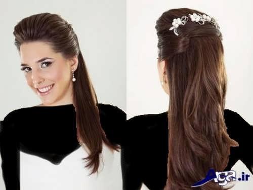 مدل آرایش موی ساده و زیبا عروس