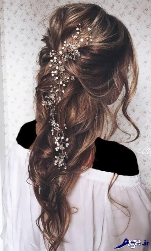 مدل آرایش مو زیبا و باز عروس