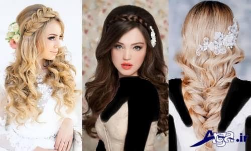 مدل آرایش مو عروس جدید