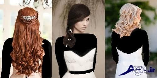 مدل آرایش مو باز عروس