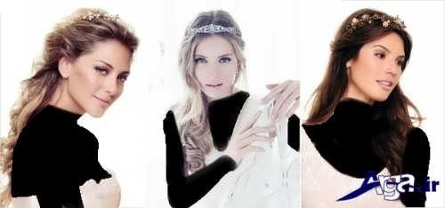 مدل آرایش موی جذاب و شیک عروس
