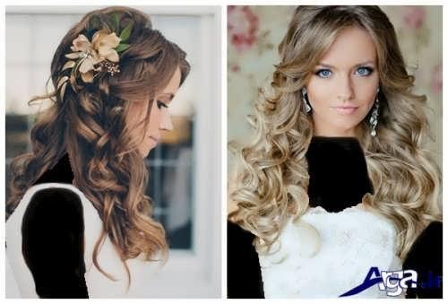 مدل آرایش مو باز و شیک عروس