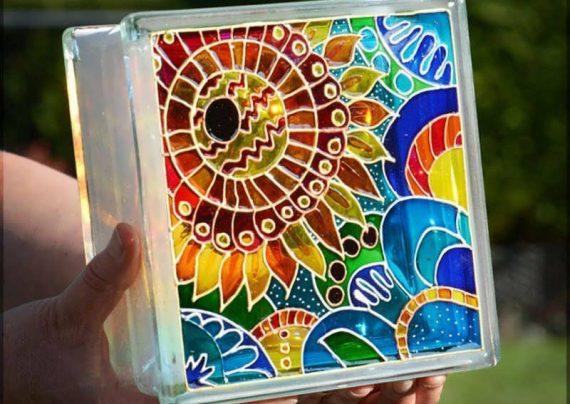 نقاشی برجسته روی شیشه