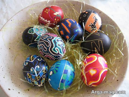 رنگ آمیزی خلاقانه تخم مرغ هفت سین