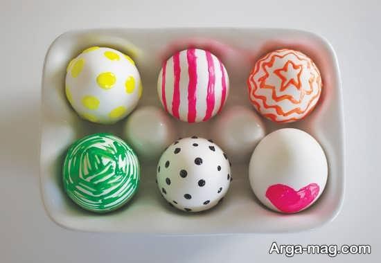 رنگ زدن دوست داشتنی تخم مرغ هفت سین
