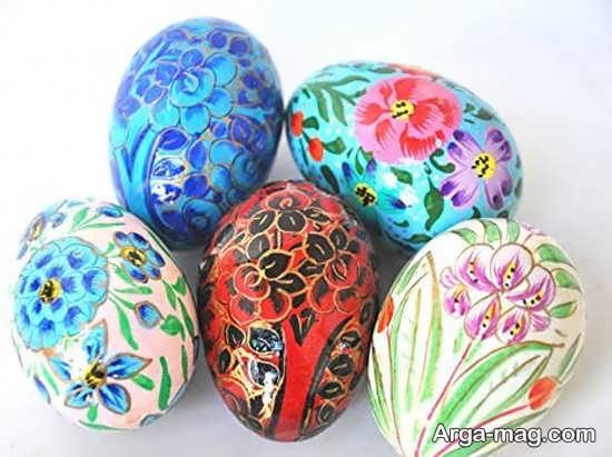 رنگ آمیزی قشنگ تخم مرغ هفت سین