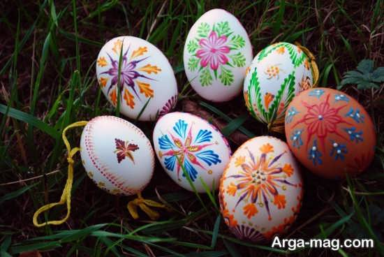 رنگ آمیزی بی نظیر تخم مرغ هفت سین