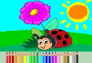 آموزش کشیدن نقاشی کفشدوزک برای کودکان