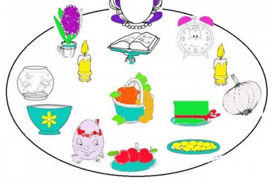 نقاشی عید نوروز برای کودکان