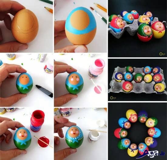 آموزش رنگ آمیزی تخم مرغ
