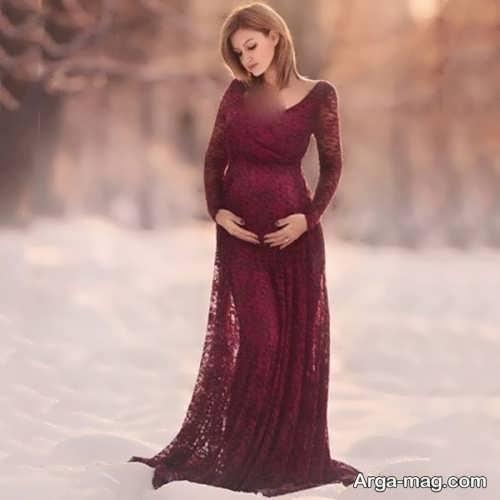 پیراهن شب بارداری بلند