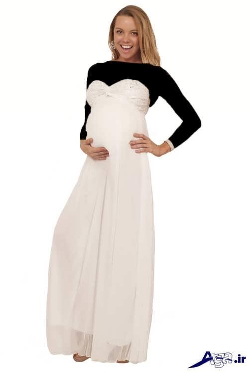مدل لباس شب دکلته بارداری