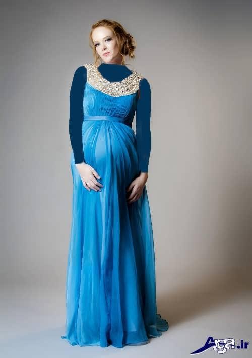مدل لباس آبی بارداری