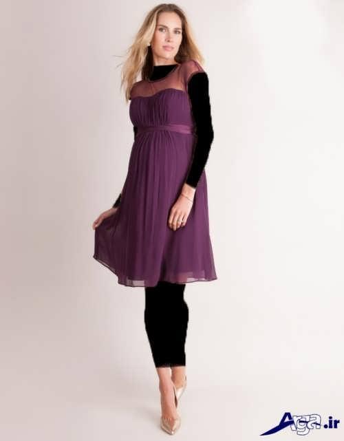 مدل لباس شب کوتاه شیک برای خانم های باردار