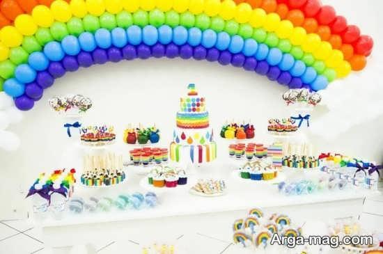 دیزاین تولد زیبا با طرح رنگین کمانی