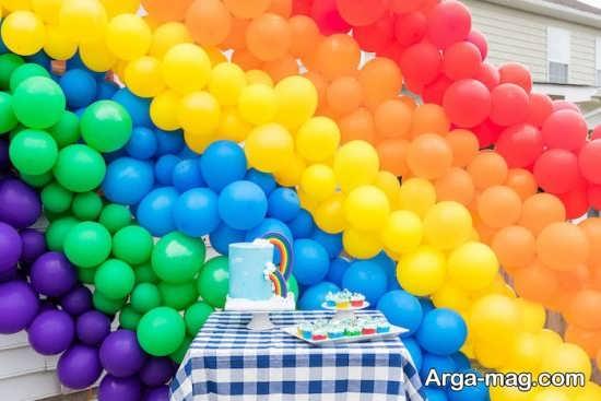 دیزاین تولد بی نظیر با طرح رنگین کمانی