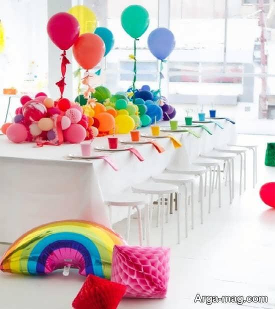 دیزاین تولد دیدنی با طرح رنگین کمانی