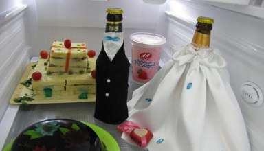 تزیین و دیزاین یخچال عروس