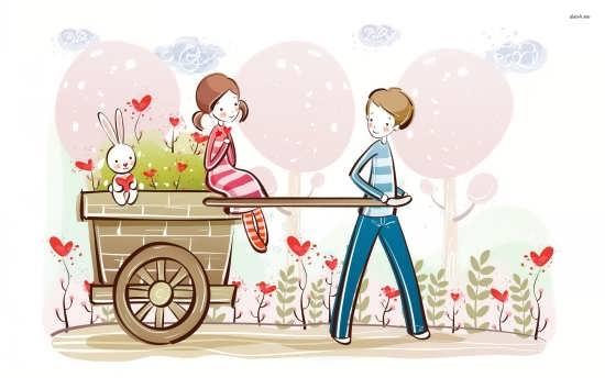 تصاویر فانتزی عاشقانه کارتونی جدید