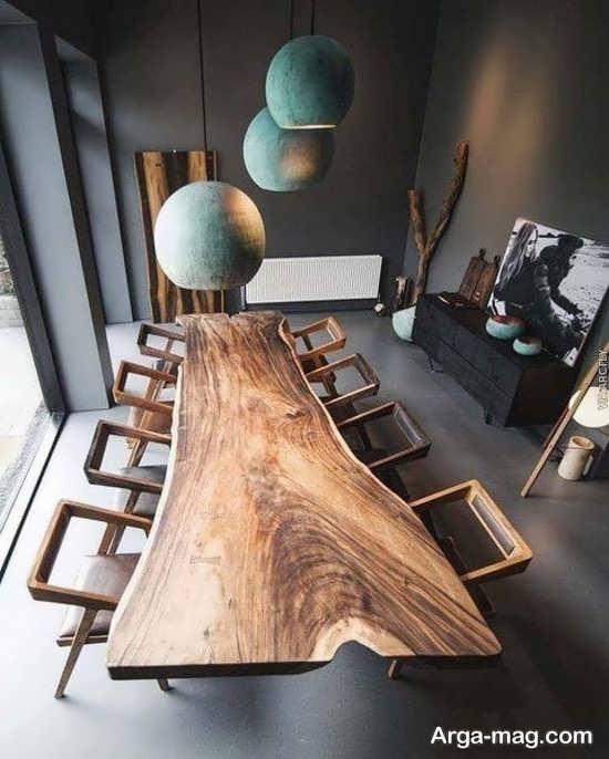 دکوراسیونی بی نظیر با میز و صندلی روستیک