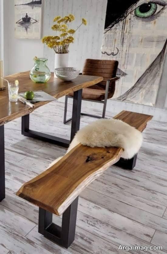 میز و صندلی روستیک برای طراحی ایده آل منزل