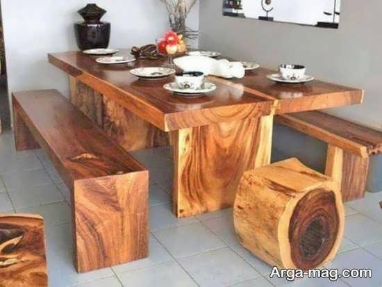 میز و صندلی روستیک برای طراحی به روز منزل