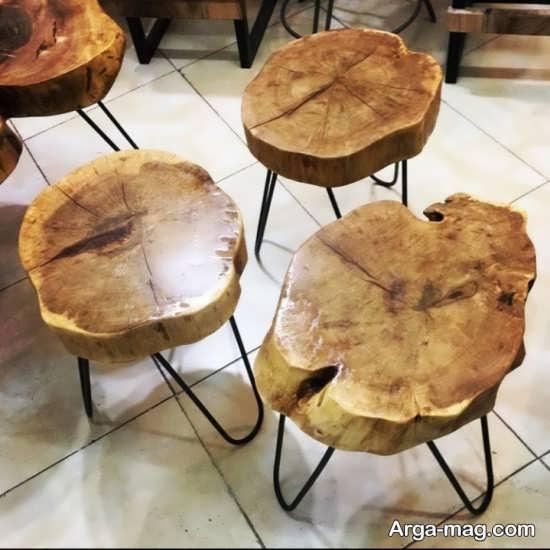 دکوراسیونی متفاوت با میز و صندلی روستیک