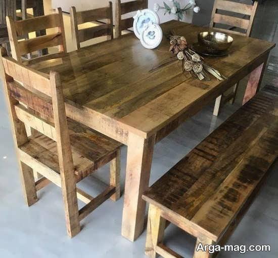 دکوراسیونی دیدنی با میز و صندلی روستیک