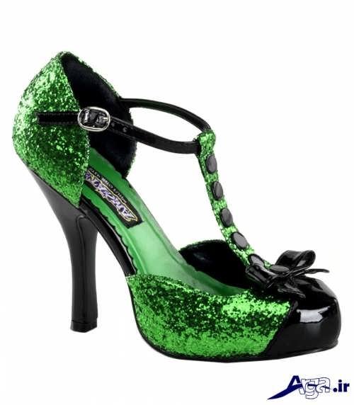 مدل کفش سبز و مشکی زنانه