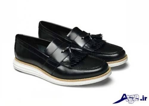 مدل کفش سفید و مشکی زنانه