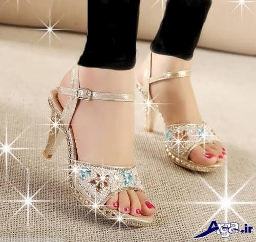 مدل کفش جلو باز مجلسی دخترانه 96