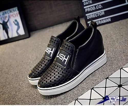 مدل کفش سفید و مشکی 96