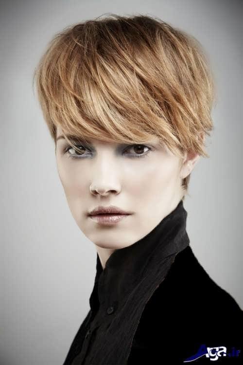 مدل موی کوتاه برای صورت کشیده دخترانه