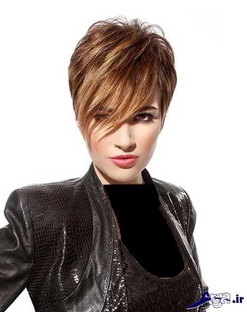 مدل موی کوتاه و متفاوت برای صورت کشیده