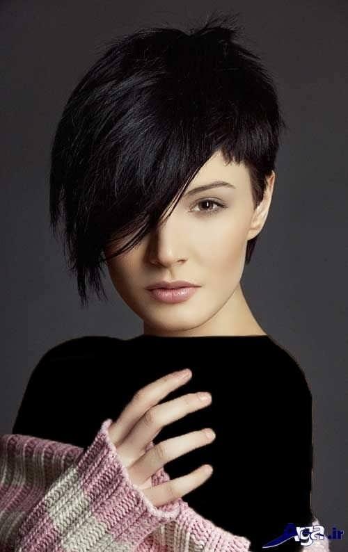 مدل موی کوتاه جدید برای صورت کشیده