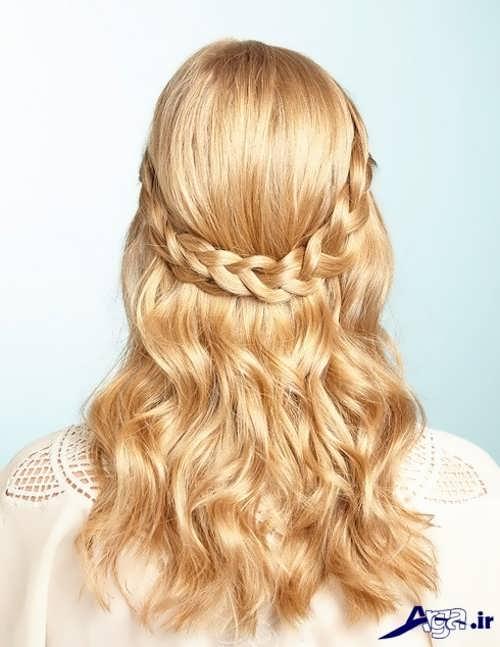 بافت مو زنانه ساده