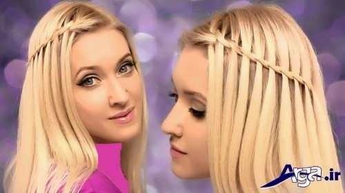 مدل بافت موی زیبا و ساده زنانه